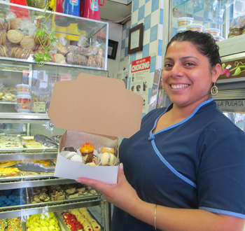 Argentinian mini pastries in Jackson Heights